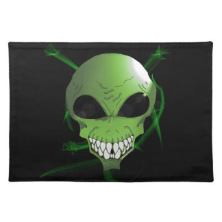 Green alien large place-mat placemat
