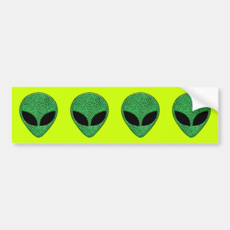 Green Alien Lizard Creature Bumper Sticker
