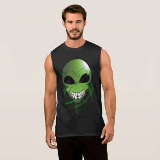 Green alien Men's Ultra Cotton Sleeveless T-Shirt