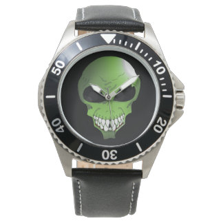 Green alien men's watch