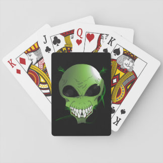 Green alien Playing Cards, Standard Index faces Playing Cards