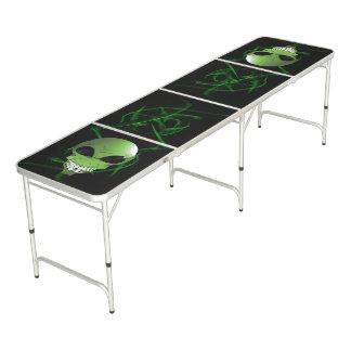 Green alien Regulation Size Beer Pong Table