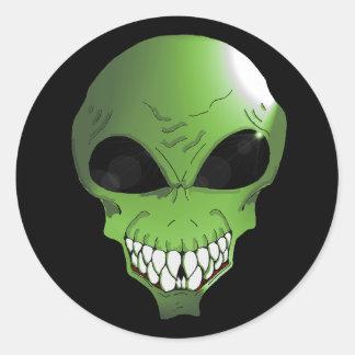 Green Alien Sticker sheet