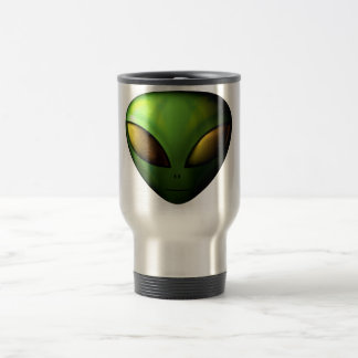 Green Alien Travel Mug