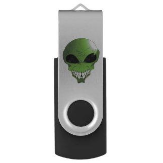 Green alien USB flash drive