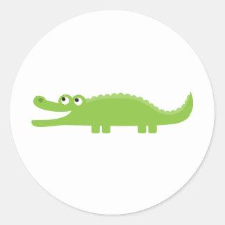 Green Alligator Classic Round Sticker