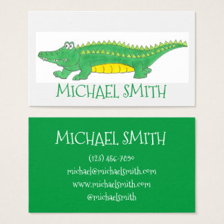 Green Alligator Gator Reptile Croc Crocodile Zoo Business Card
