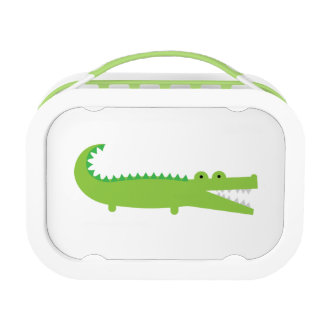 Green Alligator Kids School Lunch Box