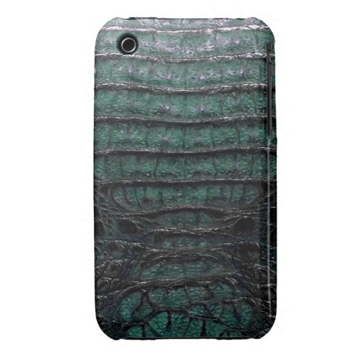 Green Alligator Skin iPhone 3G/3GS Case iPhone 3 Cover