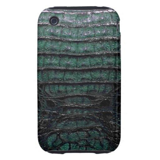 Green Alligator Skin iPhone 3G/3GS Tough Case iPhone 3 Tough Cover