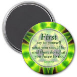Green Aloe Identity Motivational Magnet