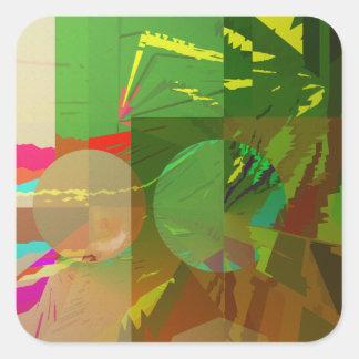 Green Amazon Abstract Square Sticker