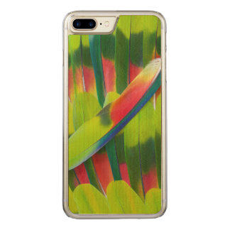 Green amazon parrot feathers carved iPhone 8 plus/7 plus case