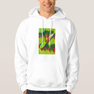 Green amazon parrot feathers hoodie