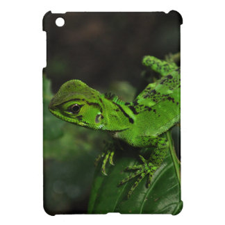 Green Amazonas lizard Case For The iPad Mini