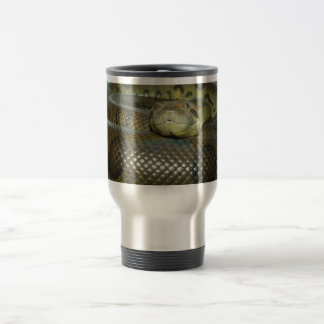 Green Anaconda Big Snake Travel Mug