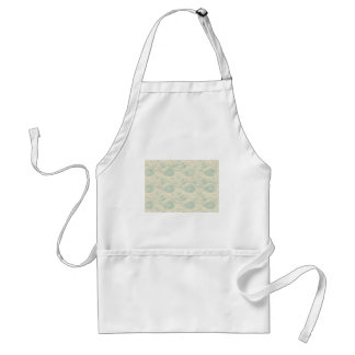 Green and Beige Paisley Print Standard Apron