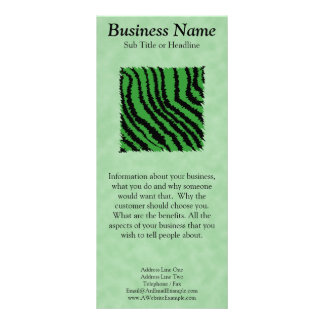 Green and black abstract jungle pattern. personalized rack card