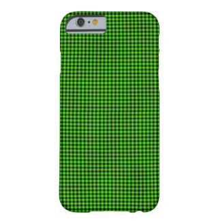 Green and Black Checks Barely There iPhone 6 Case