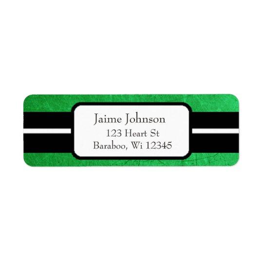 Green and Black Classy  Return Address Sticker