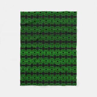 Green And Black Fleece Blanket