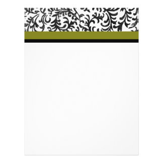 Green and Black Floral Pattern Personalized Flyer