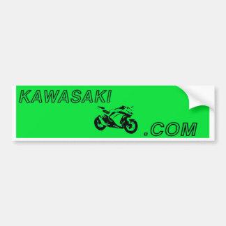 Green and Black KAWASAKININJA300.com Forum sticker Bumper Sticker