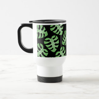 Green and Black Leaf Pattern Coffee Mug