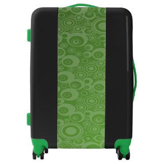Green and Black Medium Sized Luggage Suitcase