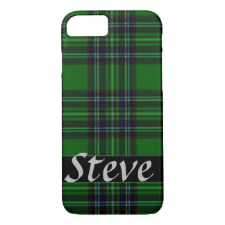 Green and Black Plaid iPhone 8/7 Case