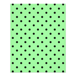 Green and Black Polka Dot Pattern. Flyer Design