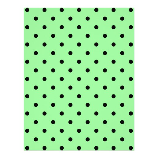 Green and Black Polka Dot Pattern. Personalized Flyer