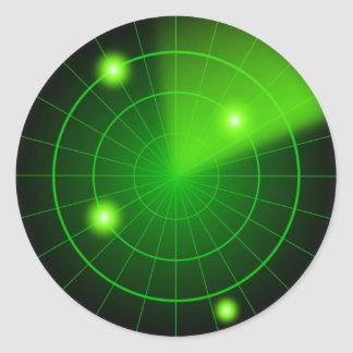Green and black radar sticker