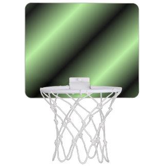 Green and Black Stripe Mini Basketball Hoop