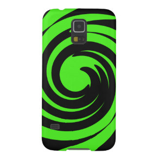 Green and black swirl galaxy s5 cover