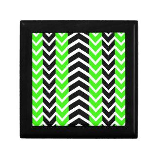 Green and Black Whale Chevron Gift Box