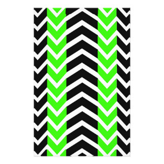 Green and Black Whale Chevron Stationery