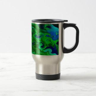 Green and blue abstract mug