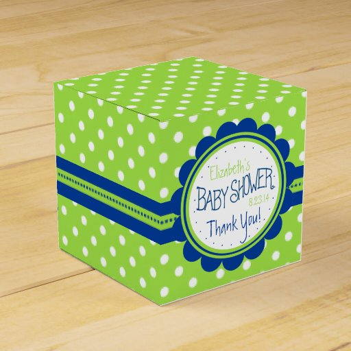 Favour Boxes Baby Blue : Green and blue baby shower party favour boxes zazzle