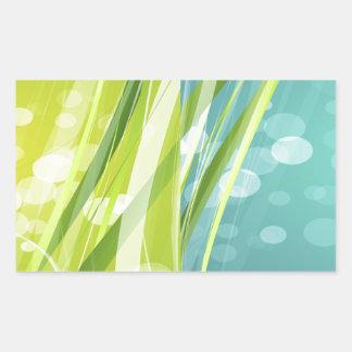 Green and Blue Background Rectangular Sticker