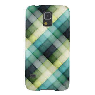 Green and Blue Blocks Galaxy S5 Case