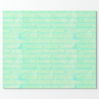 Green and Blue Brick Wall Gift Wrap