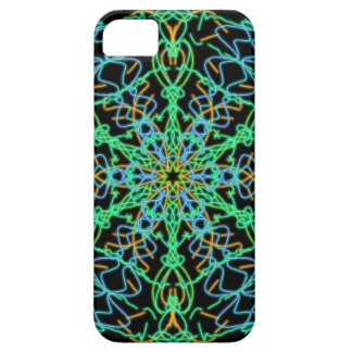 Green and Blue Bright Kaleidoscope Abstract Art Barely There iPhone 5 Case