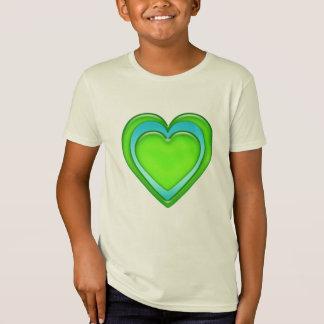 Green And Blue Candy Gel Heart Organic T-Shirt