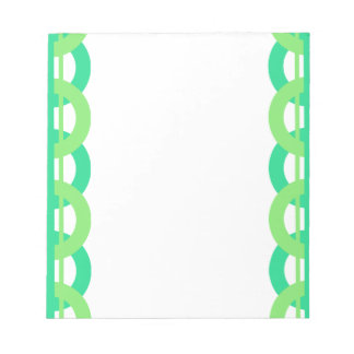 Green and Blue Chain Link Pattern Notepad