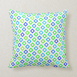 Green and Blue Circle Square Pillow