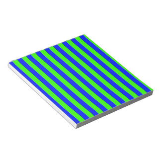 Green and Blue Coloured striped pattern Notepad