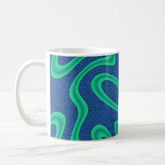Green and Blue Crazy Fractal Coffee Mug
