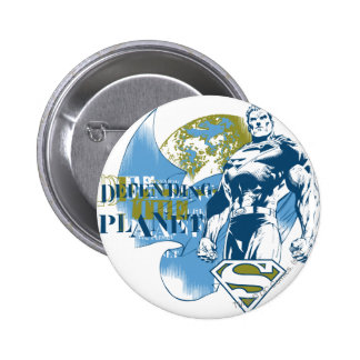 Green and Blue Design 6 Cm Round Badge