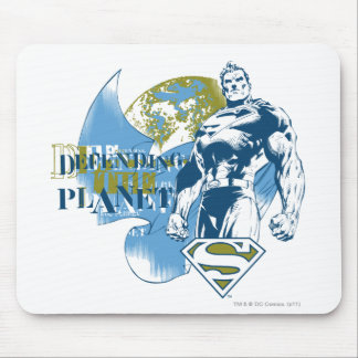 Green and Blue Design Mouse Pad